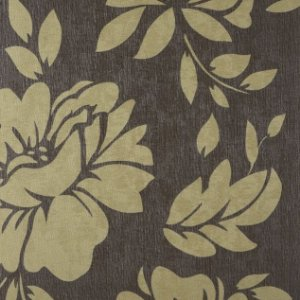 Papel de Parede Diamond Floral Dourado Fundo Marrom Texturizado - ER110406
