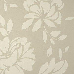 Papel de Parede Diamond Floral Creme e fundo Bege Texturizado - ER110408