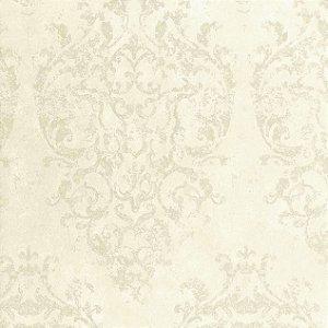 Papel de Parede Diamond Brasão Cinza Creme - BD590701