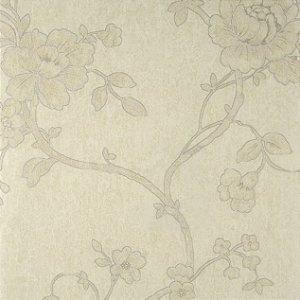 Papel de Parede Diamond Floral Cinza e Marrom Claro - DF650102