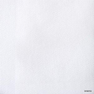 Tecido Sarja Branca peletizado com 1,60 metros de largura, 265 grs/m²