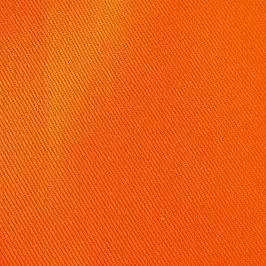 Tecido Sarja Laranja peletizada com 1,60 metros de largura