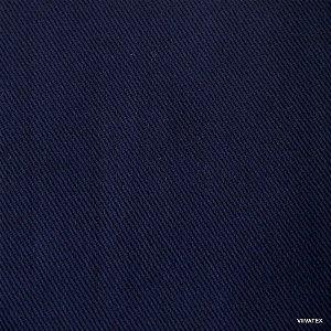 Tecido Sarja Azul Marinho peletizado com 1,60 metros de largura