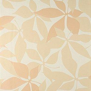 Papel de Parede Ruby, Floral Creme, Salmão - CP140201