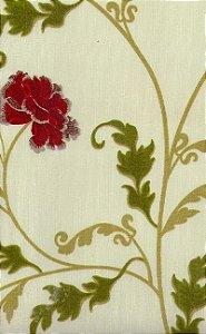 Tecido área externa impermeabilizado Acqua - Floral e Ramos - 106