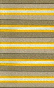 Tecido área externa impermeabilizado Acqua - Listrado Amarelo, Marrom e Bege - 138