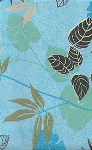 Tecido área externa impermeabilizado - Flores Azul, Cinza e Rosa - Acqua 142