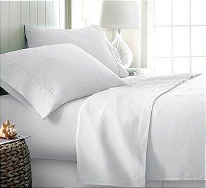 Jogo de cama 600 Fios Home Design Liso King Branco - Corttex