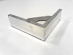 Pés de Cantoneira Aluminio Polido - 16x16x5cm