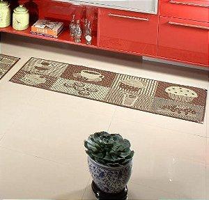 Jogo de Cozinha sisal Antiderrapante com 3 Peças - Marrom e Bege  KS62