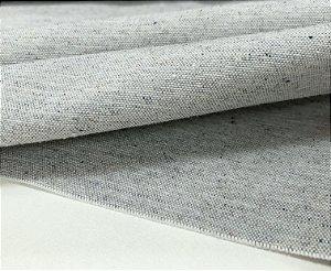 Tecido Linho Impermeabilizado Catarina - Cinza - Macio, Liso, Confortável