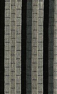 Tecido Chenille Viscose Listrado Preto, Chumbo e Cinza - RUS 04