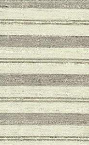 Tecido Chenille Viscose Listrado Crinza e Creme - RUS 09