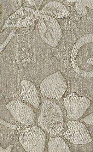 Tecido Chenille Viscose Floral Bege - RUS 22
