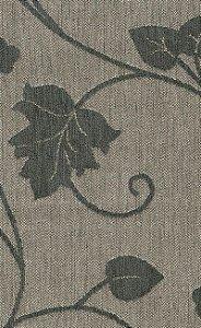 Tecido Chenille Viscose Bege Escuro e Floral em Verde Musgo - RUS 33