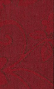 Tecido Chenille Viscose Floral Vermelho - RUS 48