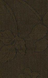 Tecido Chenille Viscose Marrom Floral - RUS 54