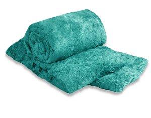 Manta Cobertor Para o Frio Casal Microfibra Macia 1,80x2,05 Turquesa Fatex