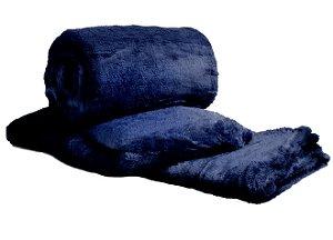 Manta Cobertor Para o Frio Casal Microfibra Macia 1,80x2,05 Marinho Fatex