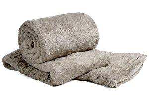 Manta Cobertor Para o Frio Casal Microfibra Macia 1,80x2,05 Bege Fatex