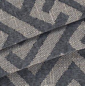 Tecido para Sofá Linho Rústico Geométrico Bege com Preto- Vice 25