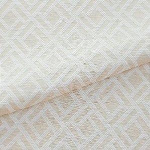 Tecido para Sofá e Estofado Jaquard  Cru e Branco Estrelado - Ferr - 12