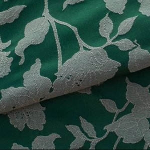 Tecido para Sofá e Estofado Jaquard  Verde Floral  - Ferr - 24