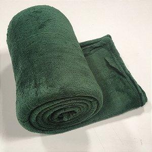 Manta Verde Musgo Solteiro Microfibra Corttex Home Design 2,00 x 1,50 mts