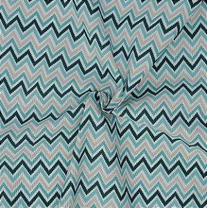 Tecido Acqua Sammer Chevrom em Tons de Verde - Summer 307