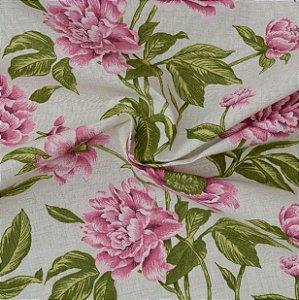 Tecido Acqua Sammer Floral Rosa  - Summer 320