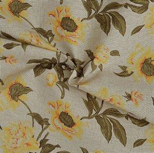 Tecido Acqua Sammer Floral em Tons de Amarelo - Summer 328