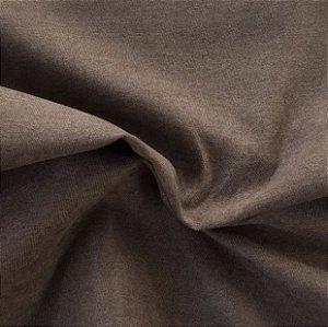 Tecido Veludo Fosco Pelo Baixo Marrom - Eros 05