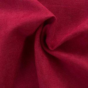 Tecido Veludo Fosco Pelo Baixo Vermelho - Eros 06