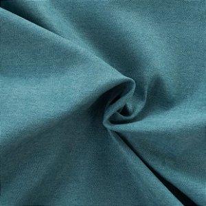 Tecido Veludo Fosco Pelo Baixo Azul - Eros 07