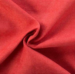 Tecido Veludo Fosco Pelo Baixo Cereja - Eros 09