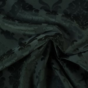 Tecido Veludo Alto-Relevo Medalhão Verde - Inc 11