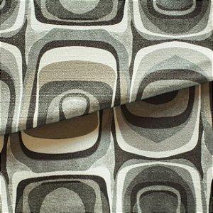 Tecido para Sofá e Estofado Veludo Geométrico em Tons de Verde - MARSE 30