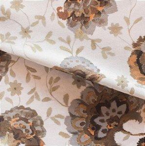 Tecido para Sofá e Estofado Veludo Floral Verde - MARSE 39
