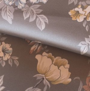 Tecido para Sofá e Estofado Veludo Floral Cinza - MARSE 43
