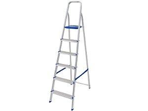 Escada de Alumínio 6 Degraus Mor