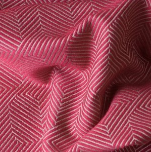 Tecido Para Sofá e Estofado Jacquard Versalhes Vermelho - VES 05