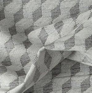 Tecido Para Sofá e Estofado Bordado Versalhes Cinza - VES-25
