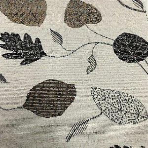 Tecido Para Sofá Jacquard Estampado Folhas Marrom - Évora 10