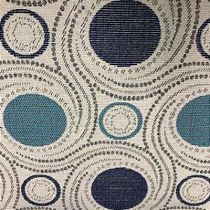 Tecido Para Sofá Jacquard Geométrico Azul- Évora 29
