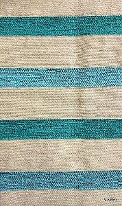 Tecido para sofa chenille Listrado Creme, Verde Agua e Verde - Tur 01