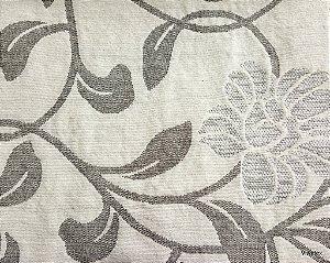 Tecido para sofa chenille Floral Palha, Cinza e Bege Claro - Tur 06