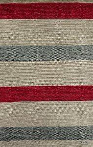 Tecido para sofa chenille Listrado Vermelho, Cinza, Creme - Tur 11