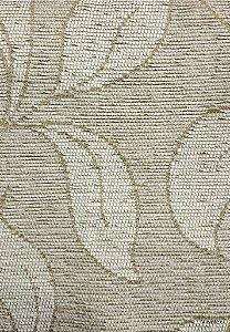 Tecido para sofa chenille Folhas em Bege Claro - Tur 20