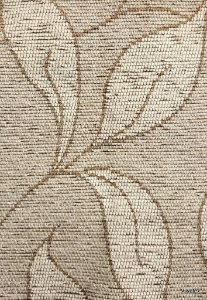 Tecido para sofa chenille Folhas em Bege - Tur 22