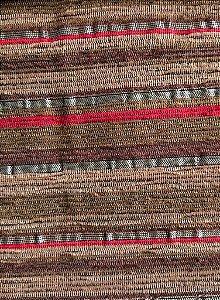 Tecido para sofa chenille Linhas Vermelho e Marrom - Tur 26